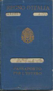 Renouvellement passeport en 1934